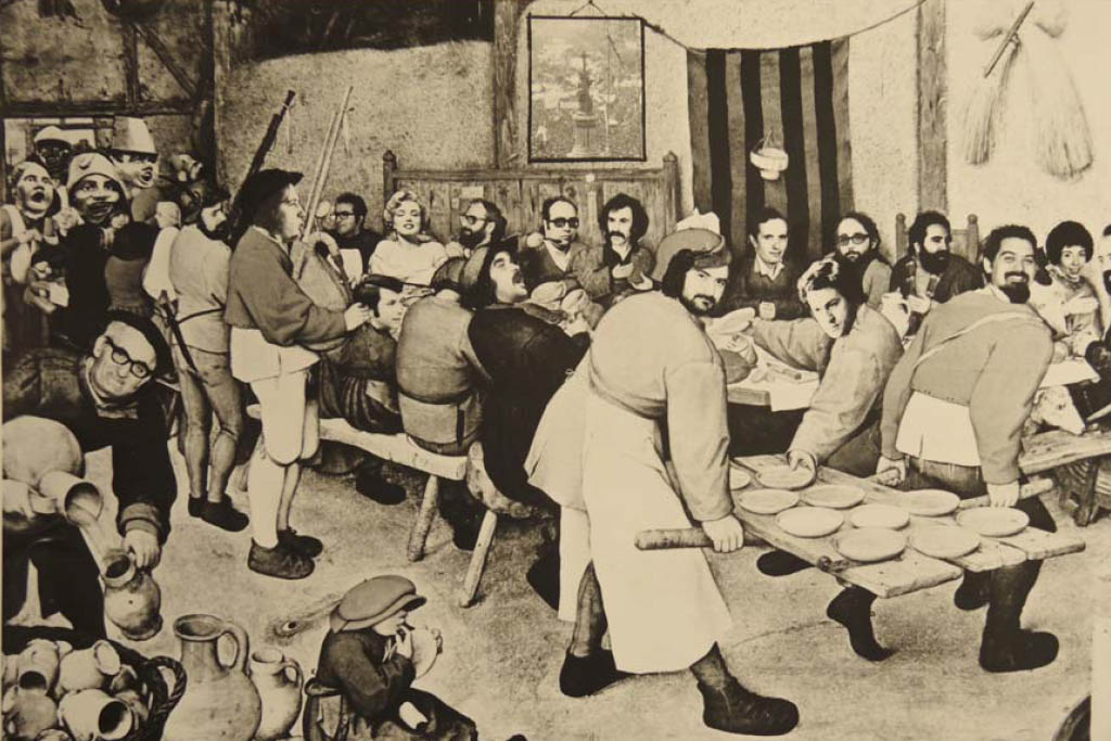 Casa Emilio, collage fotográfico de Julio Sánchez MIllán emulando obra de Brueghel.