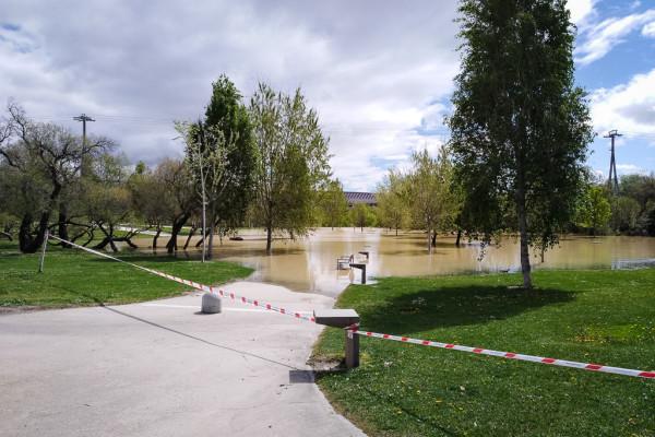 Crecida del Ebro | Foto: Pablo Ibáñez