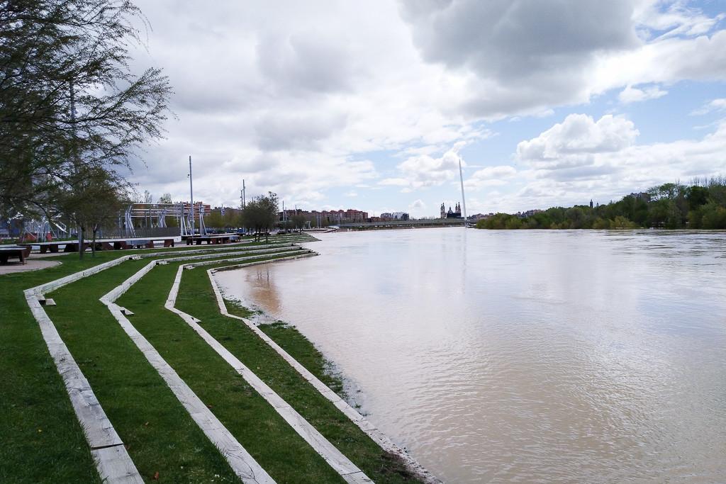 Activado el Plan Municipal de Protección Civil de Zaragoza por la crecida del Ebro