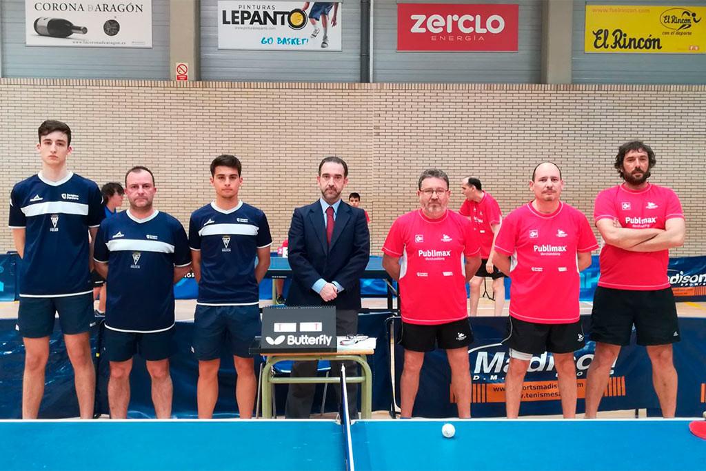 Derby zaragozano en tenis de mesa entre el CN Helios 'A' y el Publimax CAI Santiago