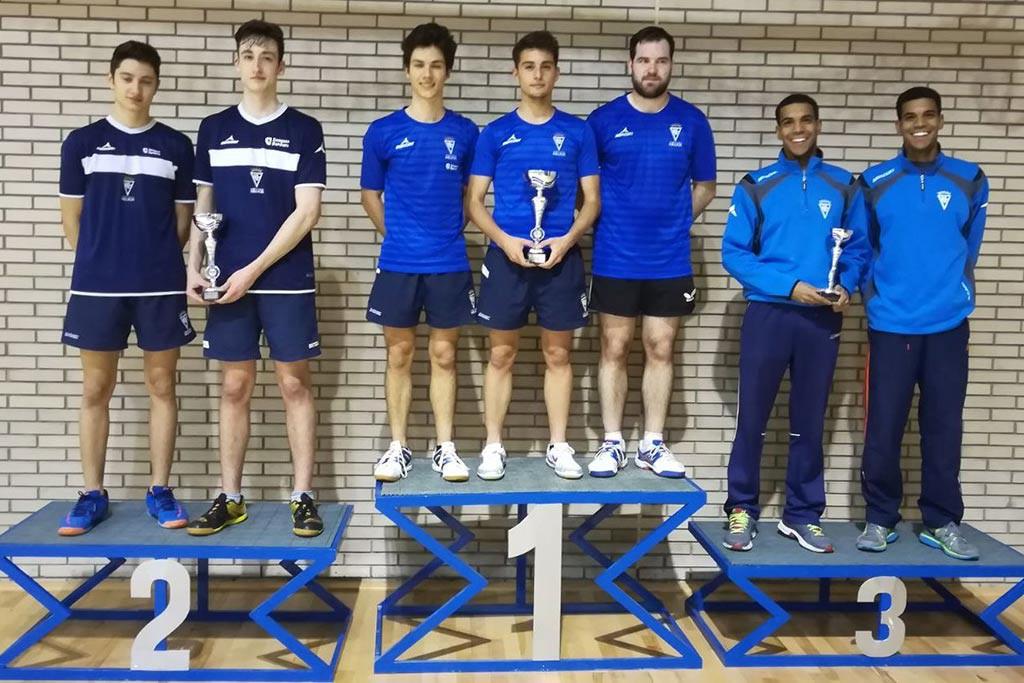 Triplete del C.N Helios en el Campeonato de Aragón por Equipos Absolutos de tenis de mesa