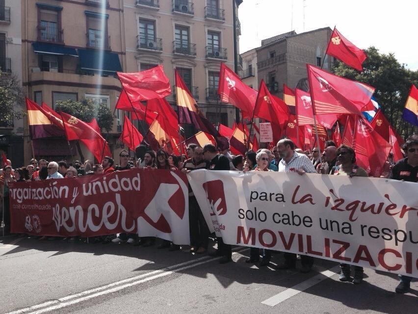IU Aragón llama a movilizarse el 1 de Mayo contra la precariedad de trabajadores y pensionistas