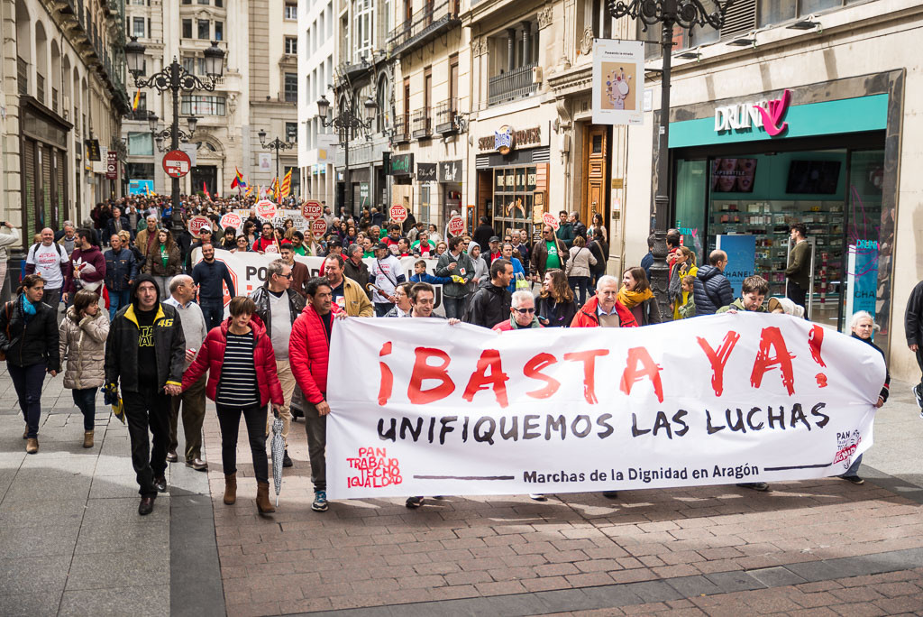 Marchas de la Dignidad de Aragón convocan concentración contra la precariedad