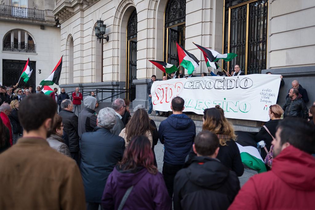 IU Aragón y CHA condenan los ataques de Israel y llaman a participar en la movilización por el derecho de retorno del pueblo palestino