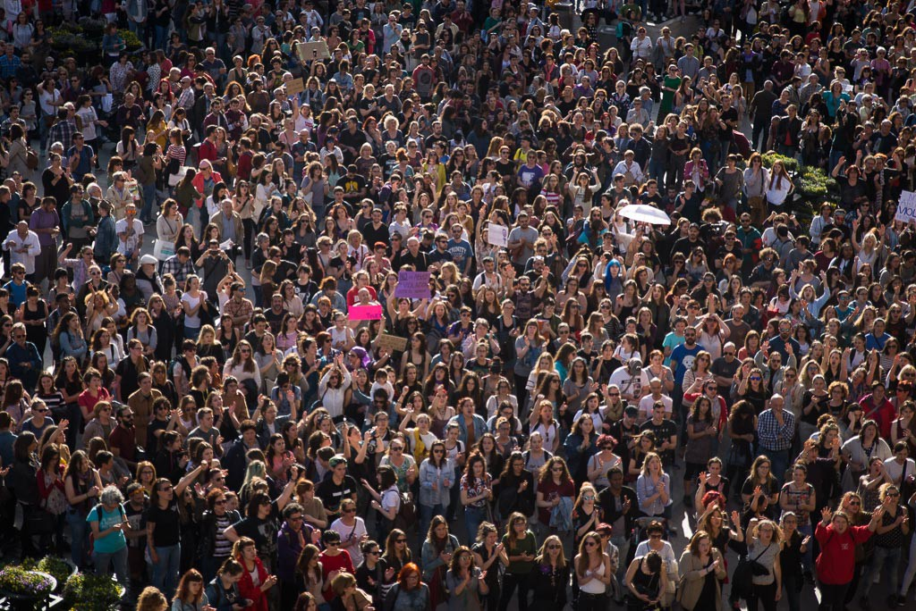 Protesta contra la sentencia de la violación grupal en sanfermines. Foto: Pablo Ibáñez