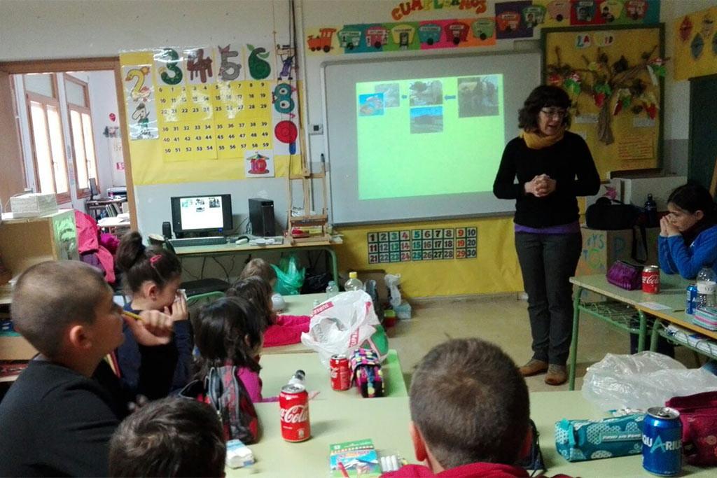 El colegio de Biarche celebra un taller de sensibilización sobre la gestión de los residuos