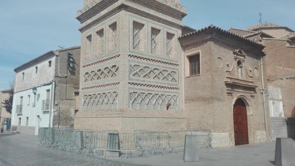 IU Utebo pide a Educación y Cultura medidas ante el desprendimiento de azulejos de la Torre Mudéjar