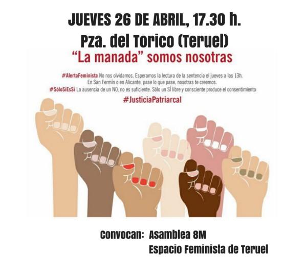 Concentración en Teruel.