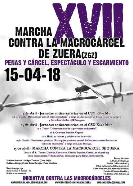 Foto: Marcha contra la Macrocárcel de Zuera