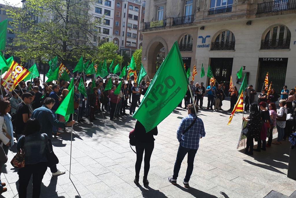 OSTA se concentra en Zaragoza contra los accidentes en el trabajo