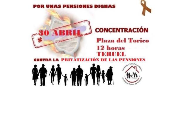 Foto: Coordinadora por la Defensa del Sistema Público de Pensiones Teruel