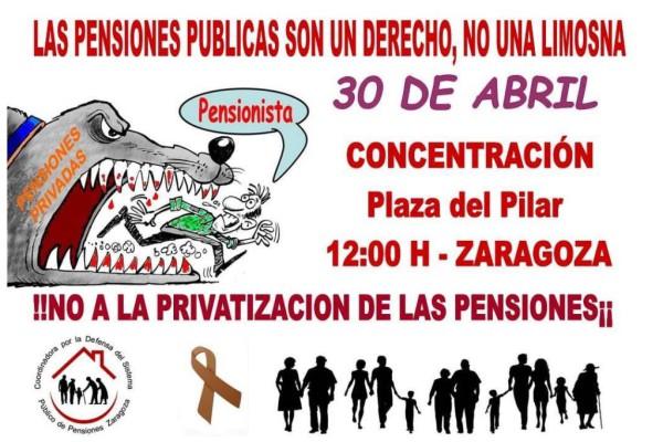 Foto: Coordinadora por la Defensa del Sistema Público de Pensiones Zaragoza