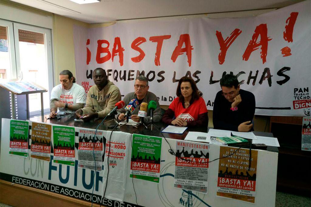 Las Marchas de la Dignidad se movilizan para defender todas las luchas sociales en Zaragoza