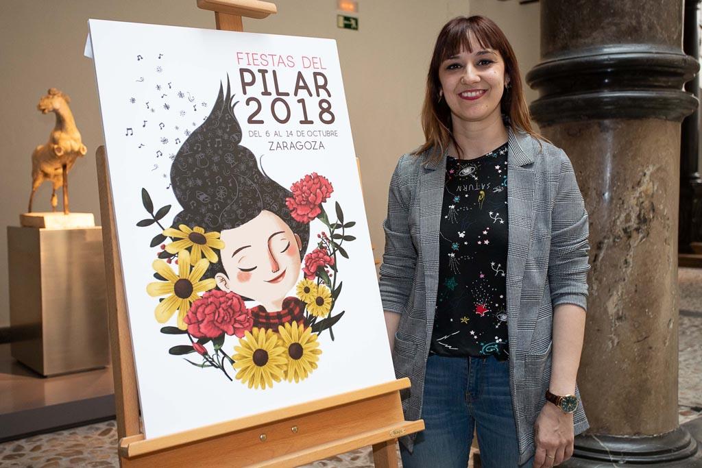 Cartel ganador de las Fiestas del Pilar 2018
