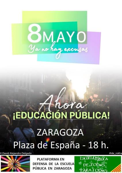 Convocatoria en Zaragoza.