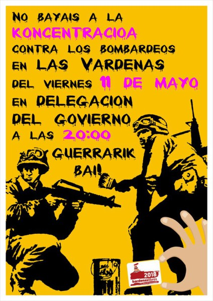 Cartel de la convocatoria en Iruñea de este viernes.