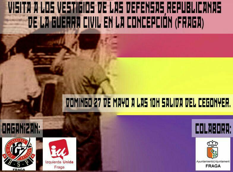 IU Fraga y la RSP organizan una visita guiada sobre memoria histórica al polvorín del monte de La Concepción