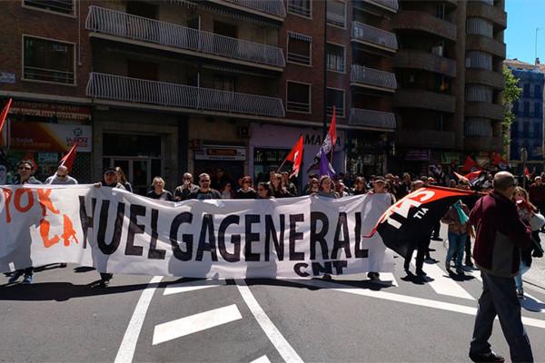 Manifestación de CNT en el 1 de Mayo