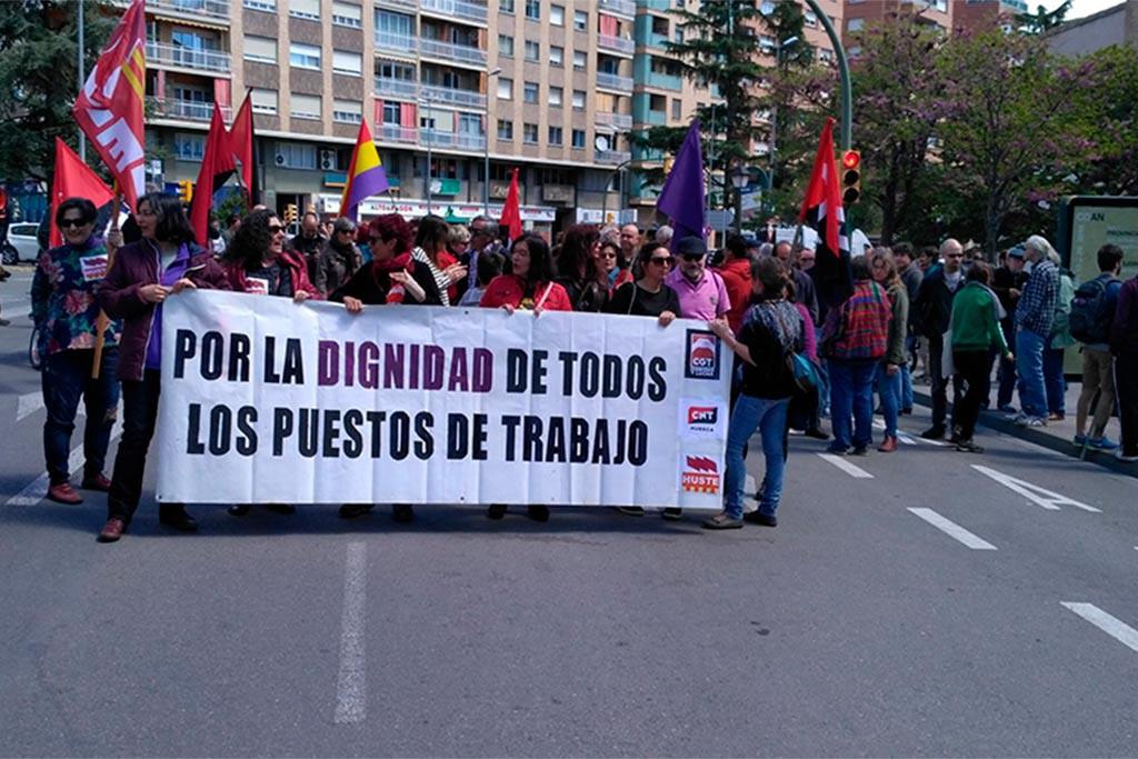 El 1 de mayo de CGT, CNT e ISTA en Uesca denunciará las privatizaciones del servicio público