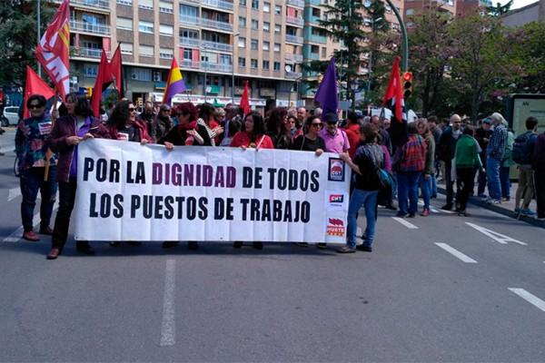 Manifestación 1 de Mayo en Uesca