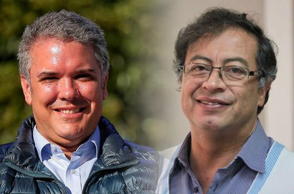 Colombia se divide en su segunda vuelta electoral entre la derecha de Duque y la izquierda de Petro