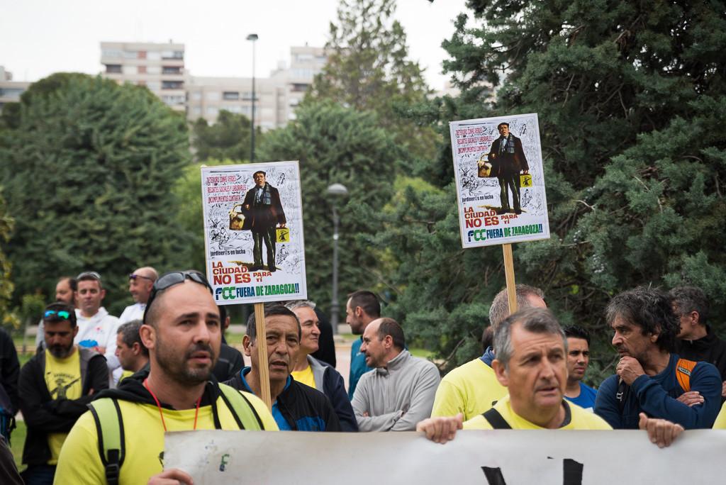 La plantilla de Parques y Jardines convoca varias jornadas de huelga a partir del mes de marzo