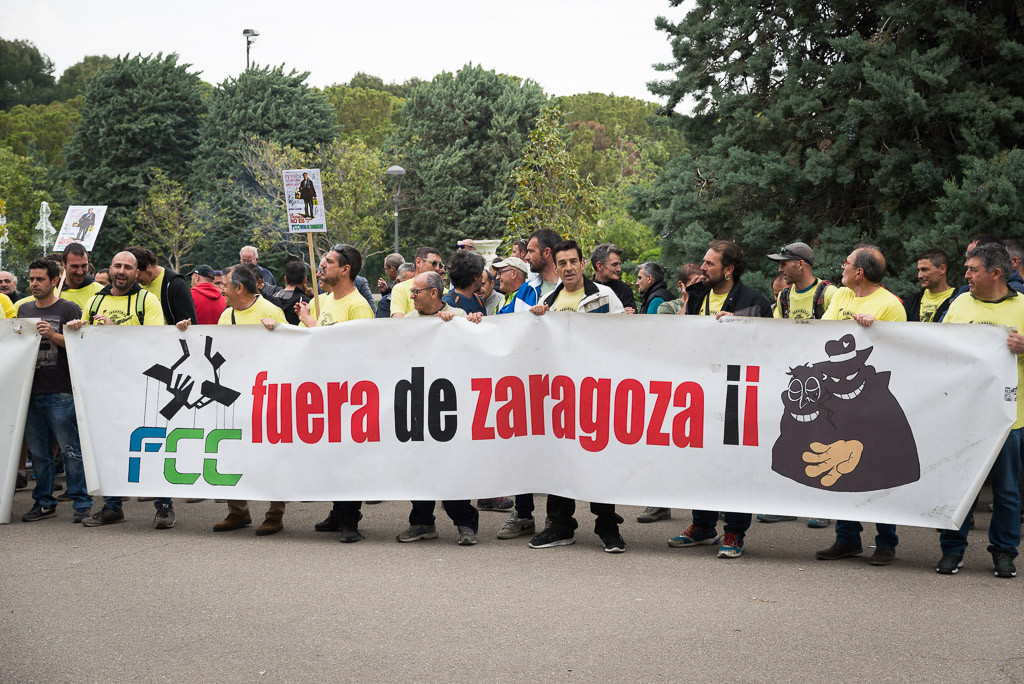 FCC vuelve a amenazar a la plantilla de Parques y Jardines con tomar acciones legales si no desconvocan la huelga