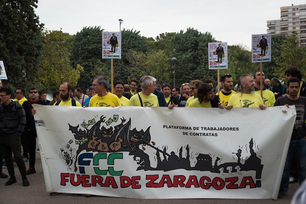 Huelga en FCC Parques y Jardines para denunciar la grabación y difusión de una asamblea de la plantilla