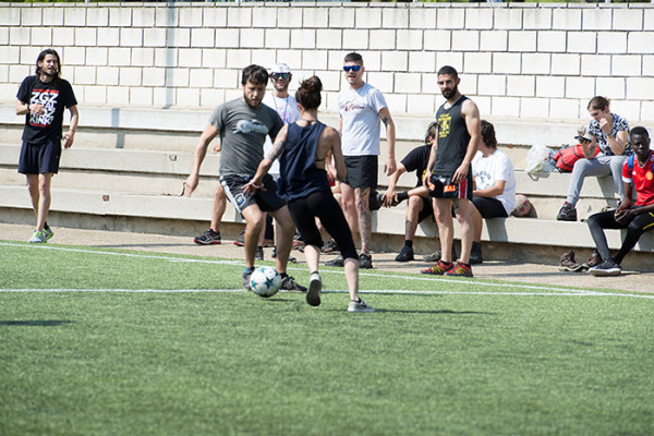 Fútbol Sala en el 10º Mundialito Antirracista de Zaragoza. Foto: Primo Romero