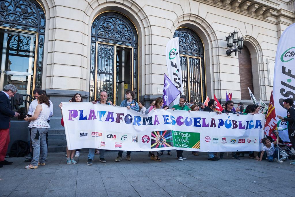 Movilizaciones en Zaragoza contra la LOMCE y por una educación pública con más inversiones