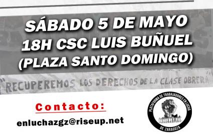 Nace la Plataforma de Trabajadores en Lucha de Zaragoza