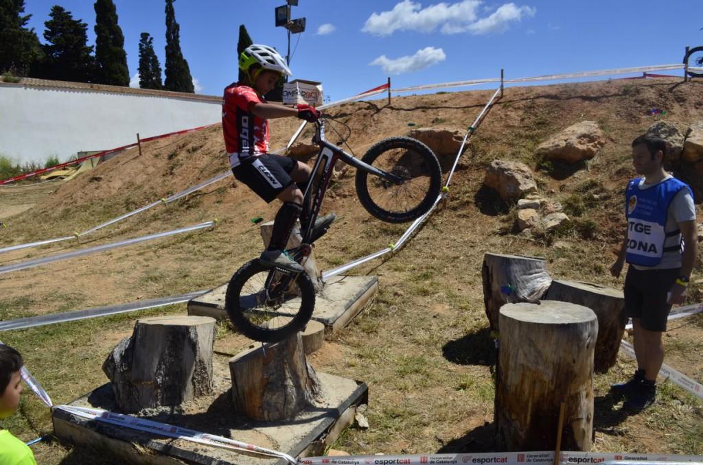Una inoportuna caída priva del podio a Poldo Sillué en la segunda prueba de la Copa Estatal de Bike Trial