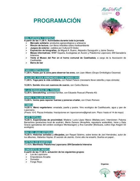 Programación  AbaDíaFest 19 de mayo