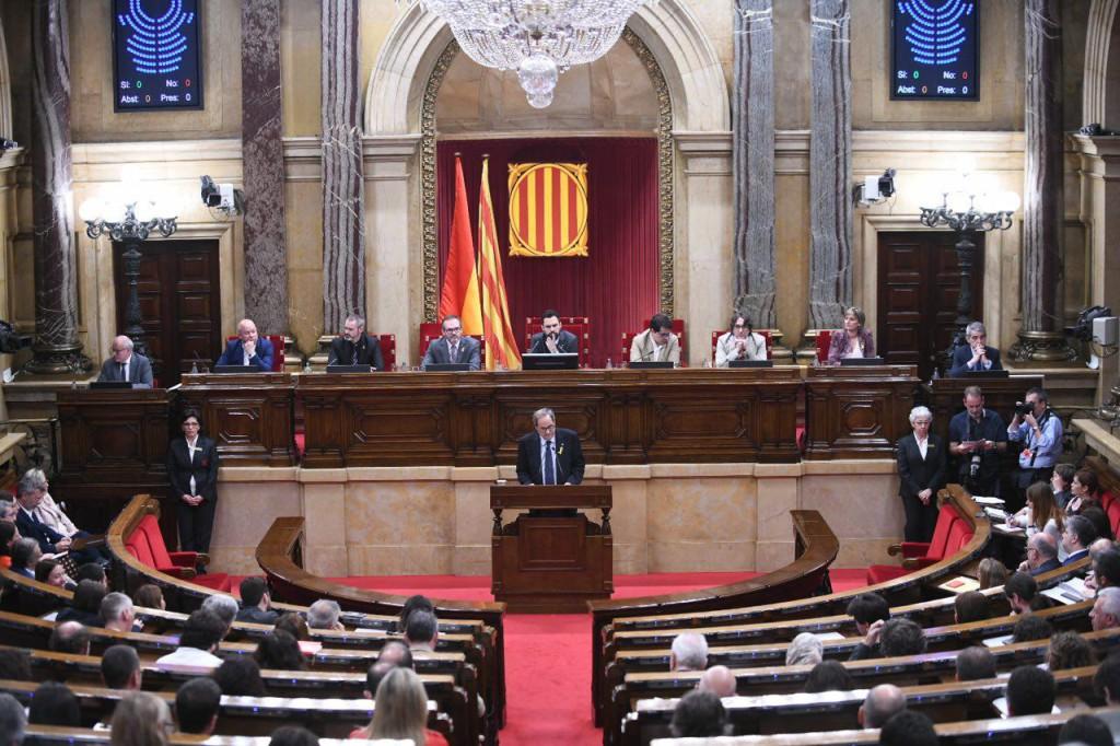 El Parlament de Catalunya rechaza en una primera votación la investidura de Quim Torra como president