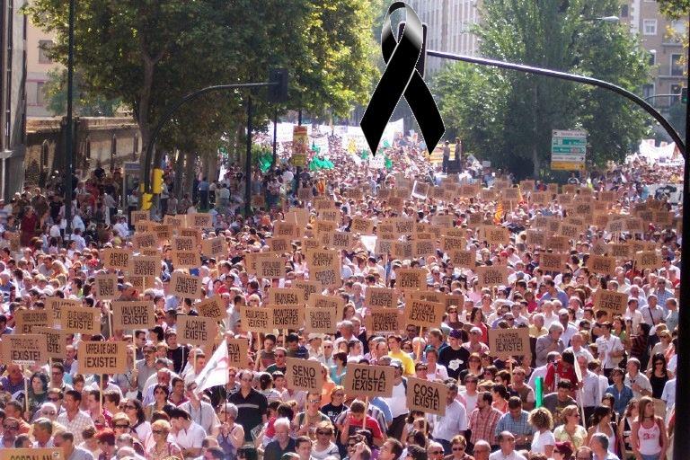 """Manifestación en Zaragoza: """"¡Salvemos Teruel!"""""""
