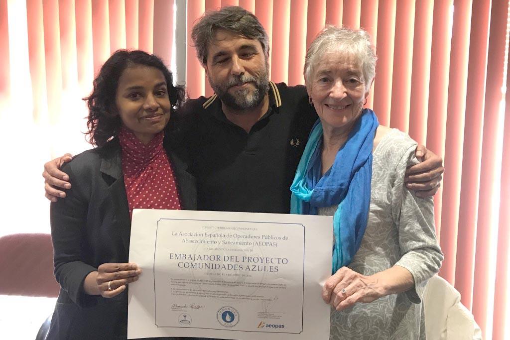 Teresa Artigas representa a Zaragoza en el primer encuentro del proyecto Comunidades Azules en el Estado español