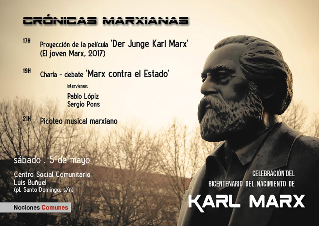 Nociones Comunes celebra el bicentenario del nacimiento de Karl Marx con la jornada 'Crónicas marxianas'