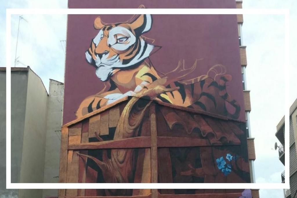 Un espectacular mural culmina la recuperación del solar de Navas de Tolosa en el barrio de Delicias