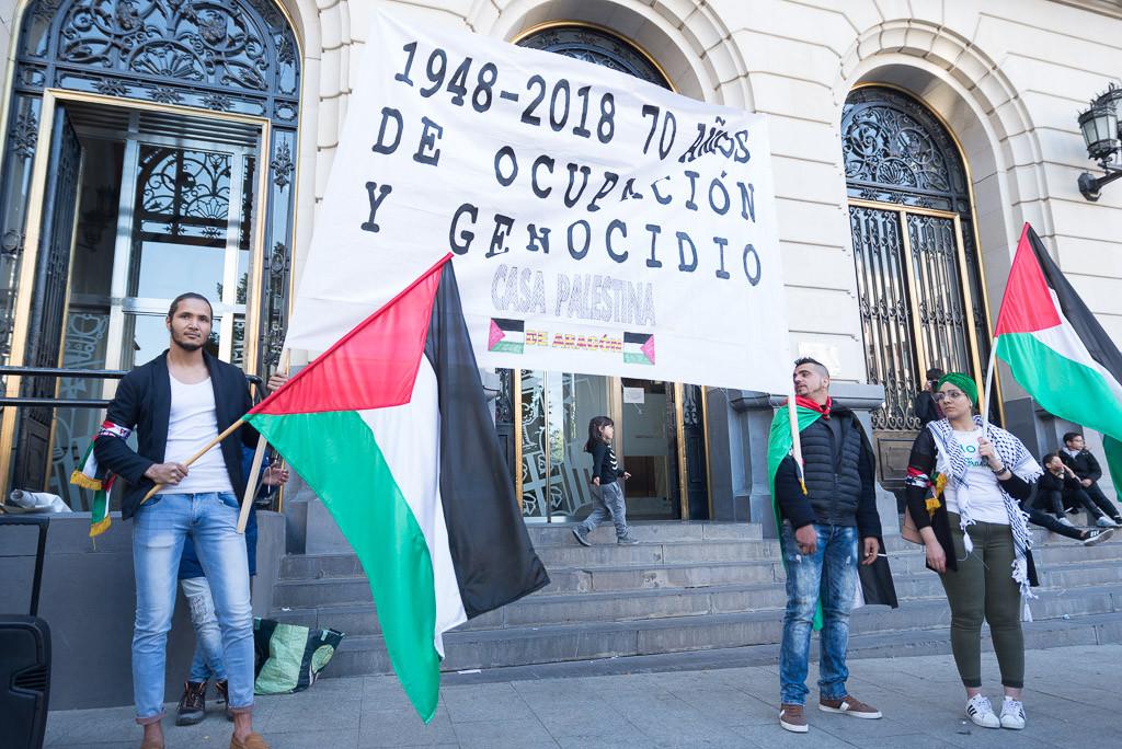 Concentración en Zaragoza contra el 'Acuerdo del Siglo' que pretende replicar el apartheid institucional de Sudáfrica