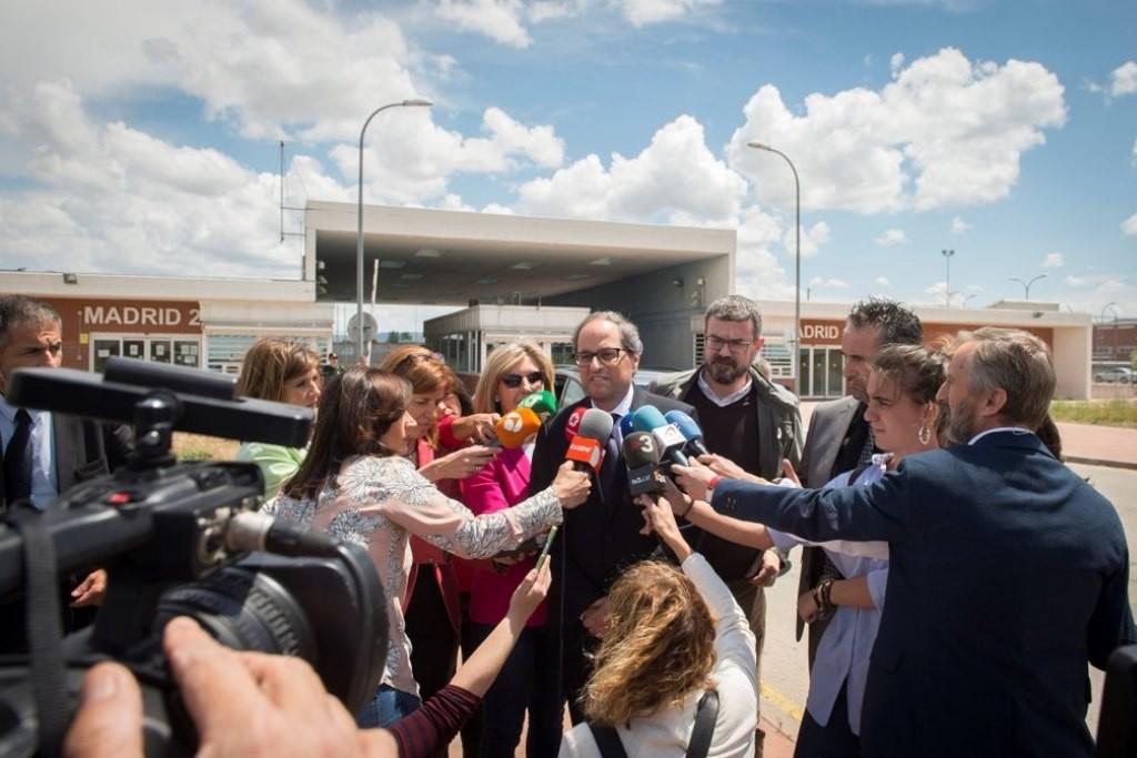 Primera visita oficial del president Joaquim Torra: Estremera, Alcalá-Meco y Soto del Real