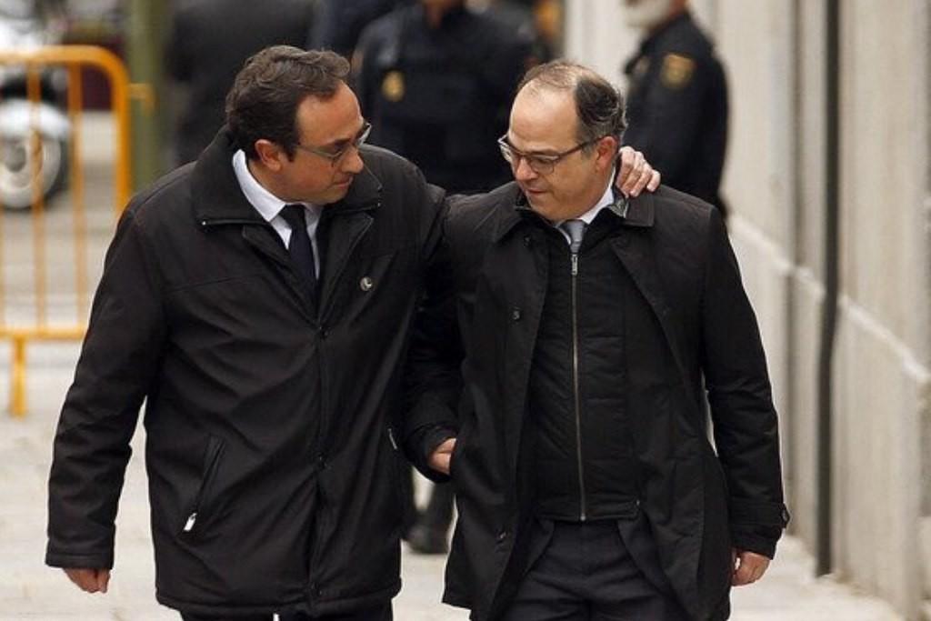 Turull, Rull, Comín y Puig, en prisión y el exilio, son restituidos como consellers por el president Torra