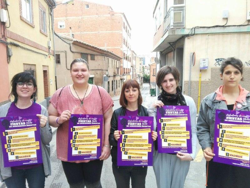 La Asamblea del 8M de Teruel pone en marcha una campaña bajo el lema 'Disfrutemos de unas fiestas libres de agresiones sexistas'