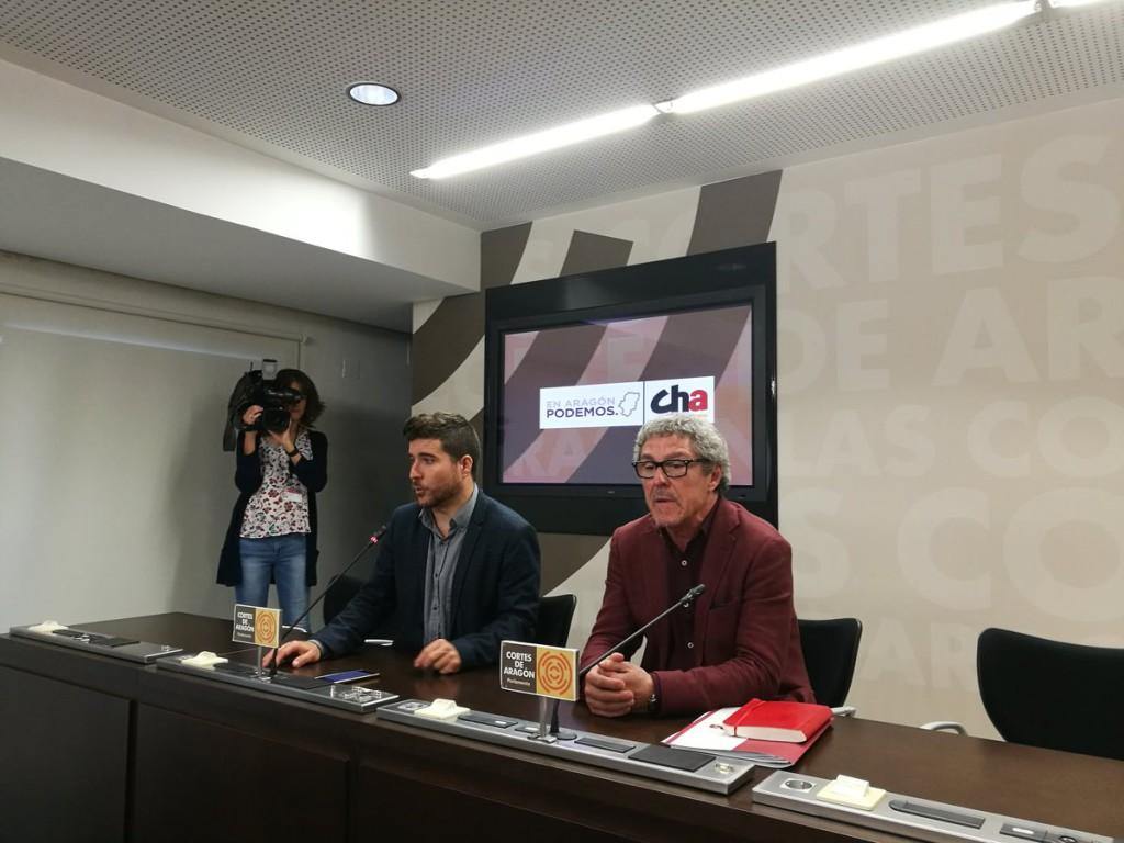 """Podemos y CHA alcanzan un preacuerdo para presentar una propuesta alternativa a la reforma de sucesiones """"que el PSOE quiere sacar con la derecha"""""""