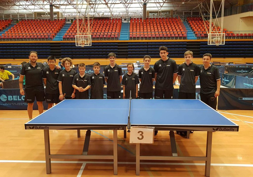 La cantera del CN Helios domina el Campeonato de Aragón individual de tenis de mesa por edades