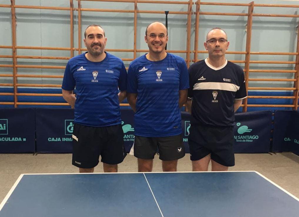 El CN Helios participa este fin de semana en la I Liga estatal de tenis de mesa para equipos veteranos