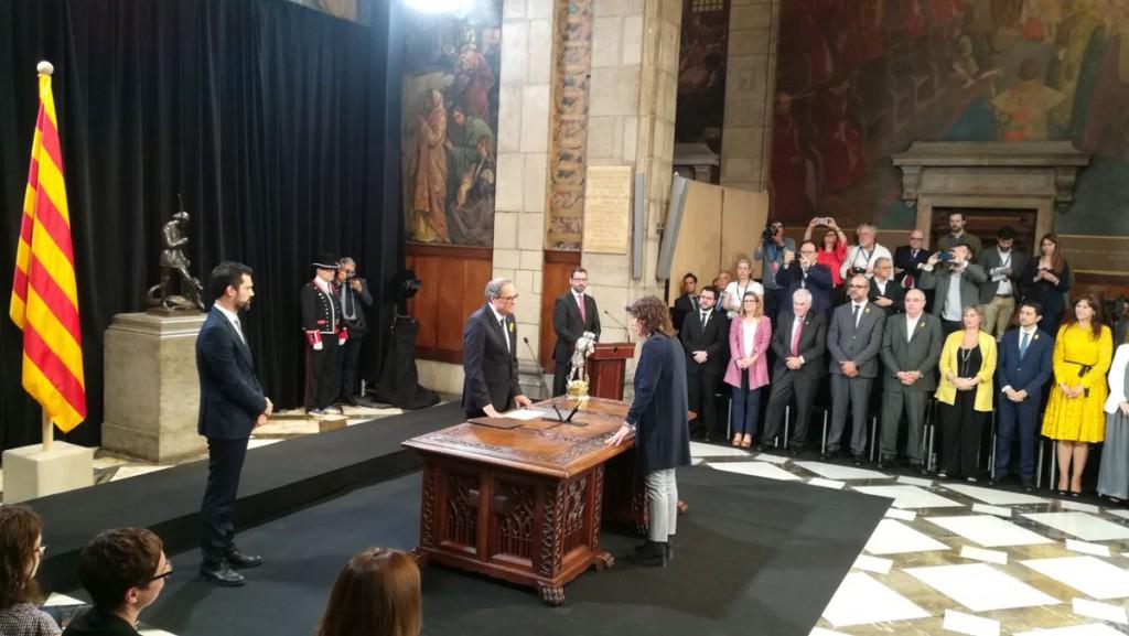 Fin del 155 con la toma de posesión de un Govern de la Generalitat sin presos ni exiliados