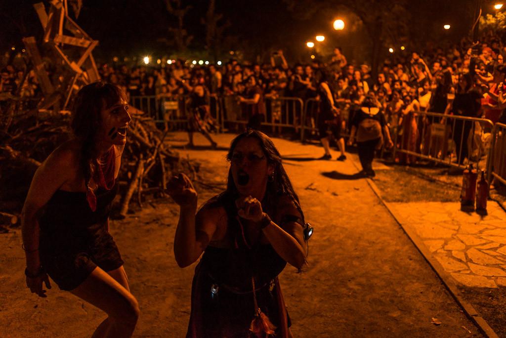Performance feminista. Foto: Pablo Ibáñez