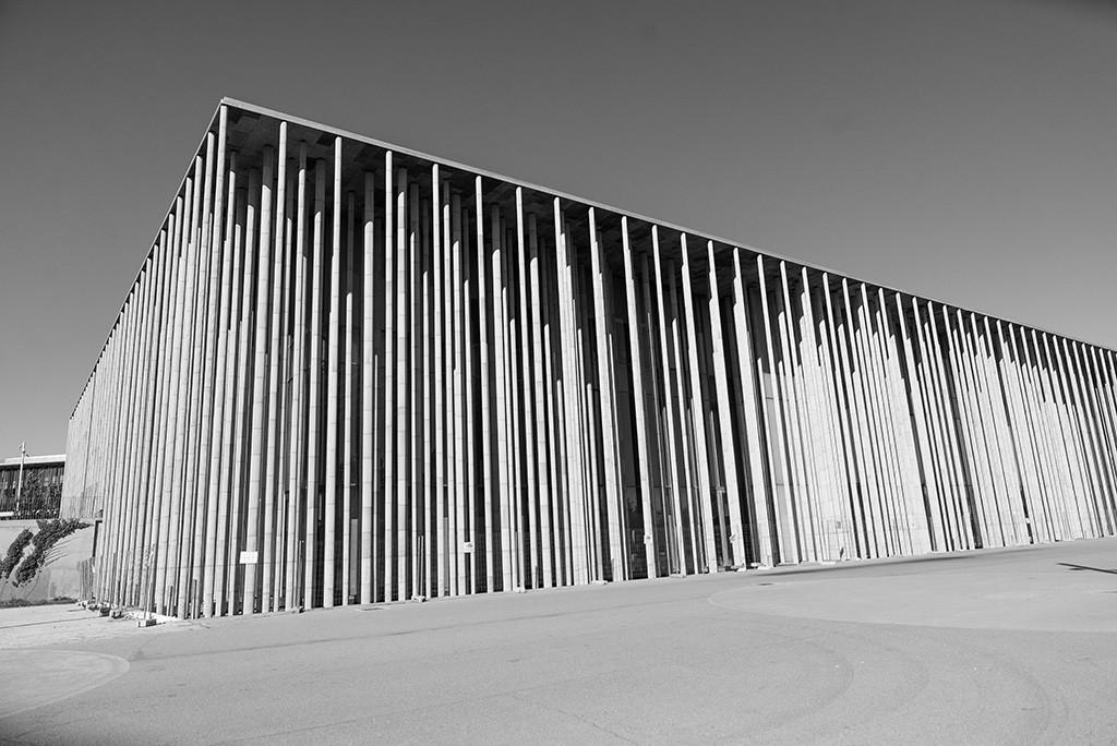El Pabellón España, propiedad del Estado, está sin uso. Foto: Pablo Ibáñez (AraInfo)