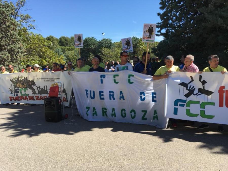 """Seguimiento del """"100% de la plantilla"""" de FCC Parques y Jardines en la tercera jornada de paros"""