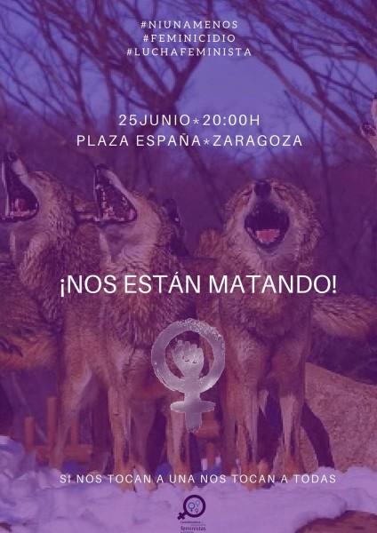 Feminicidio Zgz junio 18 concentracion COF